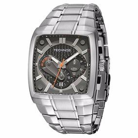 Relógio Technos Carbon Quadrado Grande Masculino Promoçâo