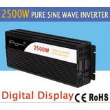 Inversor De Onda Pura 2500w 24v Dc A 120v Ac Con 2 Display