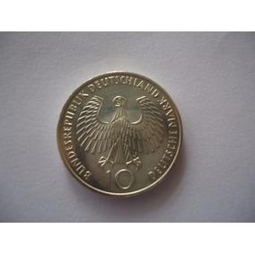 Moeda Prata 10 Mark Marco J 1972 Alemanha Munique
