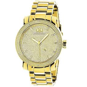 Luxurman Mens Diamond Watch 0.12ct Amarillo