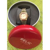 Relógio Relic By Fóssil Zr34196 Novo Na Caixa C\ Etiquetas