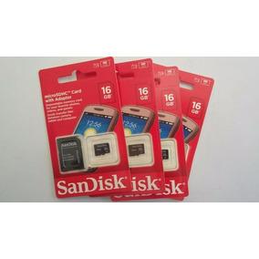 Original Cartão De Memória Micro Sd 16gb Sandisk Lacrado