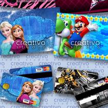 Invitaciones Infantiles Tipo Tarjeta De Credito Photoshop