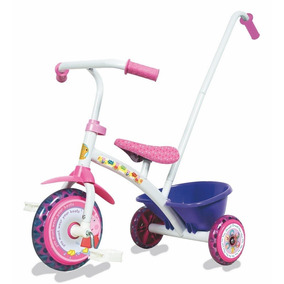 Triciclo Little Peppa Pig Metal Con Barral Canasto Original