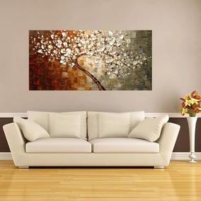Quadro Abstrato Pintado A Mão 100x50 Cm Frete Grátis