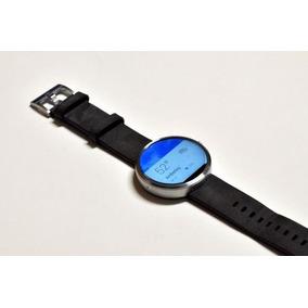 Relogio Moto 1nd Gen Moto 360 46mm Smartwatch Pulseira Couro