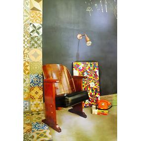 Cadeira Poltrona Cinema Cimo Anos 50 Móvel Antigo Barbearia