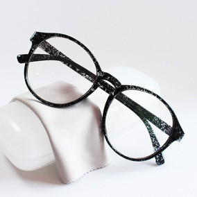 Óculos Armação Para Grau Redonda Feminina Grande Vintage Top
