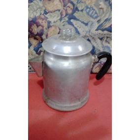 Cafetera Dos Cuerpos Noexpresso De Aluminio Antigua C-vidrio