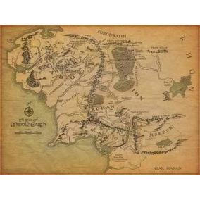 Poster Mapa Tierra Media Señor De Los Anillos 60 X 80 Cm