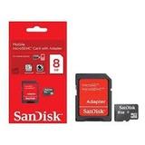Cartão De Memória Micro Sd 8gb Sandisk Lacrado Orig