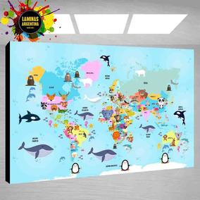 mapamundi infantil decoracin cuadro para decorar