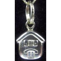 Pingente Medalha Casa Casinha Ouro 18k 750 Christianjoiasnet