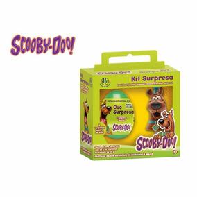 02 Kits Ovo Surpresa Scooby Doo - Dtc - 2 Ovos + 2 Chaveiros