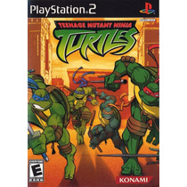 Jogo Mídia Física Original Teenage Mutant Ninja Turtles Ps2