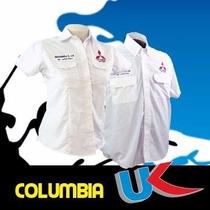 Camisas Tipo Columbia Uniformes Caballero Incluye Un Bordado