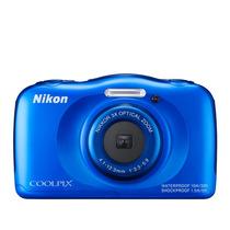 Câmera Nikon Coolpix S33 Full Hd 13mp Á Prova D