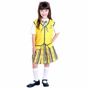 Fantasia Carrossel Amarelo Infantil Feminino P Sulamericana