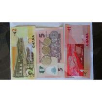 Tres Billetes Y Tres Monedas Africanas Coleccion Originals