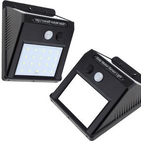 Luminaria Solar Parede Jardim 20 Led Sensor De Presença