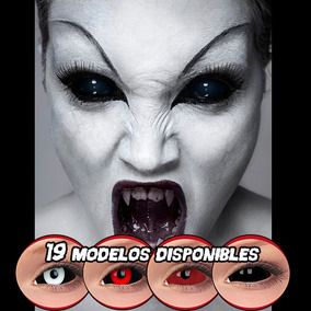Pupilentes Sclera 22 Mm, Black Sclera A 35 Pares