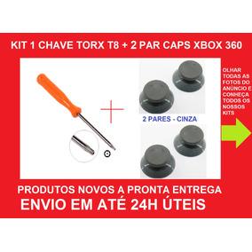 Kit Chave Torx T8 Com Furo+ 2 Pares Caps Analógico Xbox 360