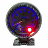 Medidor Tacometro Rpm Luz Azul Fibra Carbon 3 Pulgadas 1