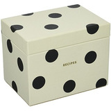 Kate Spade New York Caja De Receta, Deco Dot,, Black / Crm