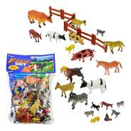 Kit De Animais Da Fazenda Bichos 27 Peças Diversos Tamanhos