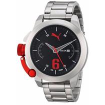 Reloj Puma Unisex Advance Silver 48mm Pu103781004