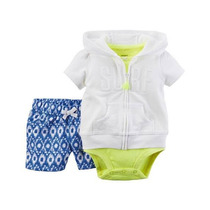 Trios Set Conjuntos Carters Con Short Nenas Originales Usa