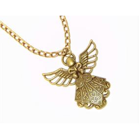 Collar Angel Color Oro Viejo