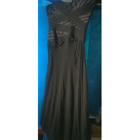 Vestido De Fiesta Largo Color Negro Usado