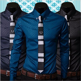 Camisa Social Slim Fit Masculina Com Frete Gratis