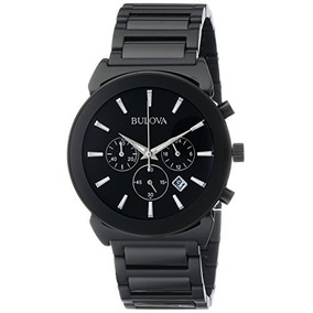 Bulova Mens 98b215 Analog Display Japanese Quartz Black Watc