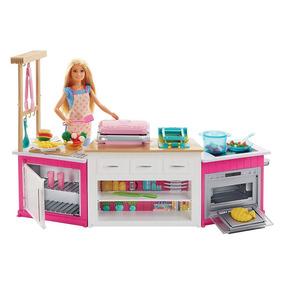 Playset E Boneca - Barbie - Cozinha De Luxo Da Barbie - Matt