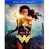 Mujer Maravilla Wonder Woman 2017 Blu-ray + Dvd + Digital