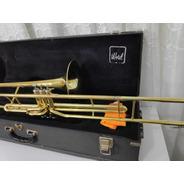 Trombone Sib Pistos Weril F670 Longo - Original Completo -