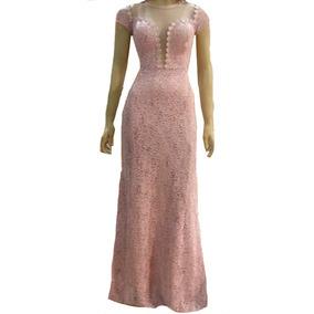 Vestido Renda Elastano Festa Madrinh Casamento Guipir Vrl531