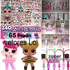 Kit Completo Lol Surprise+ Zipper Lol+ Vetores Lol Em Cdr