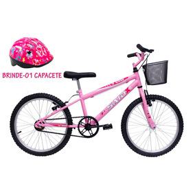 Bicicleta Aro 20 Infantil Feminina C/cestinha + Brinde