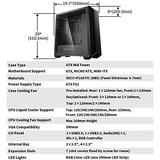 Caja De La Pc Deepcool Earlkase - Sistema De Iluminación Rgb