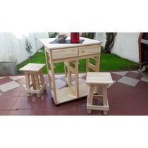 Mesa plegable madera pino mesas de cocina de madera en for Mesa auxiliar cocina plegable