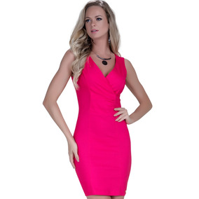 Vestido Tubinho Rosa Pink Principessa Elisangela