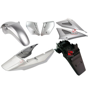 Kit Carenagem Cbx 250 Twister Paralama Placa Prata 01 A 07