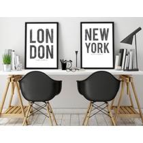 Cuadro De New York, Sidney, London, Roma, Madrid, Paris.