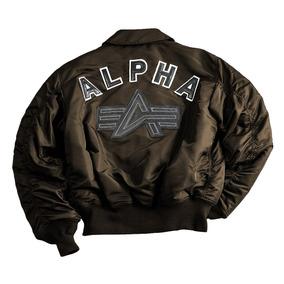Campera Alpha Industries Cwu Big A - Con Estampa En Espalda