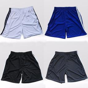 Kit 5 Calção Masculino Esportivo Fitness Plus Size Futebol
