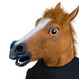 Máscara De Cabeza De Caballo Animal Látex Fiesta De Xiao Mo