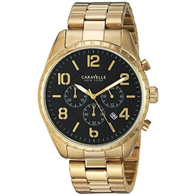 Bulova Mens Quartz Stainless Steel Casual Watch, Color:gold-